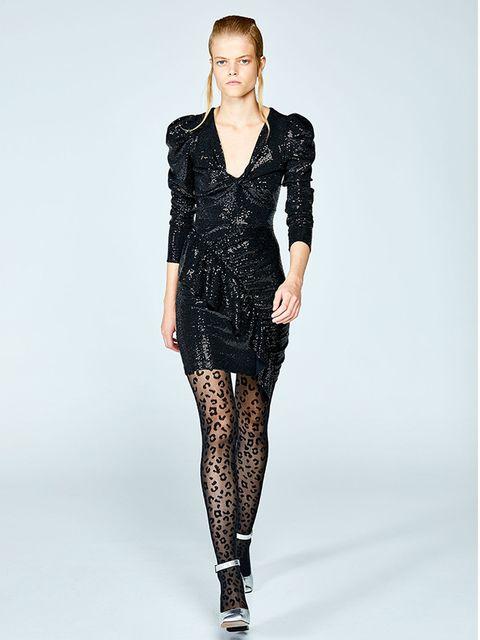 Fashion model, Clothing, Fashion, Dress, Shoulder, Neck, Waist, Sleeve, Leggings, Tights,
