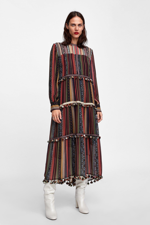 vestido zara rayas top ventas