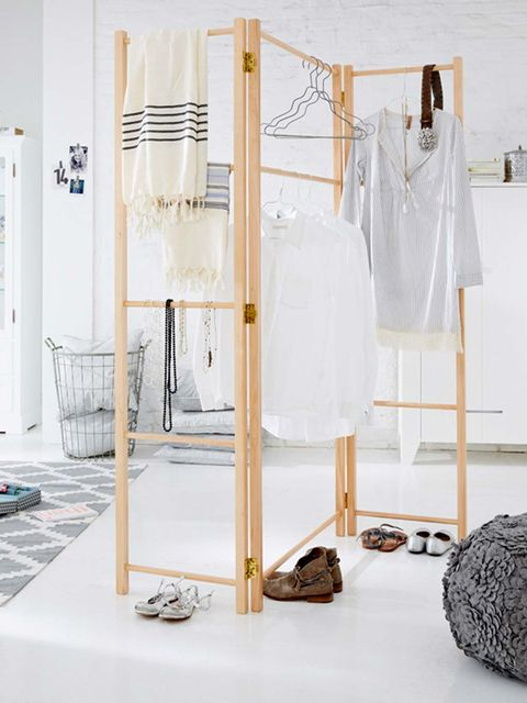 White, Clothes hanger, Furniture, Product, Room, Interior design, Dress, Door, Floor, Wardrobe,