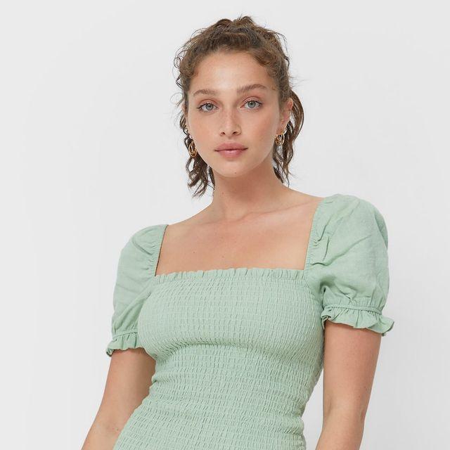 vestidos para bajitas de stradivarius