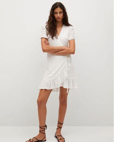 vestido blanco estilo ab lib de mango
