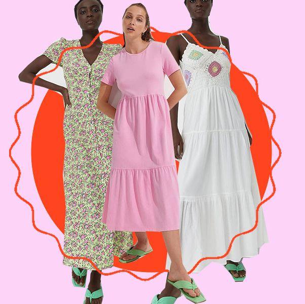 5 vestidos largos de stradivarius para bajitas