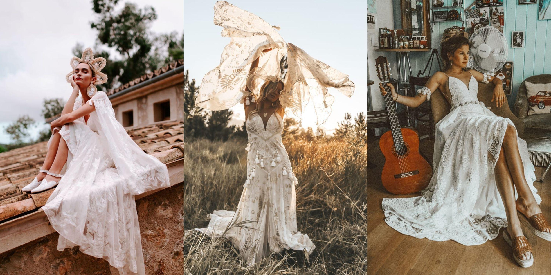 Vestidos de novia hippies outlet