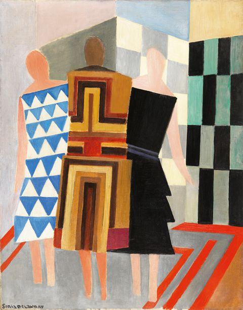 Vestidos simultáneos, de Sonia Delaunay-Terk