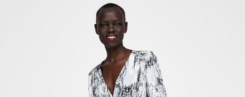 Zara vestidos 'animal print'
