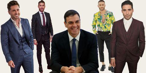 hombres mejor vestido españa, pedro sanchez, bustamante, sergio ramos, pelayo diaz, miguel angel silvestre