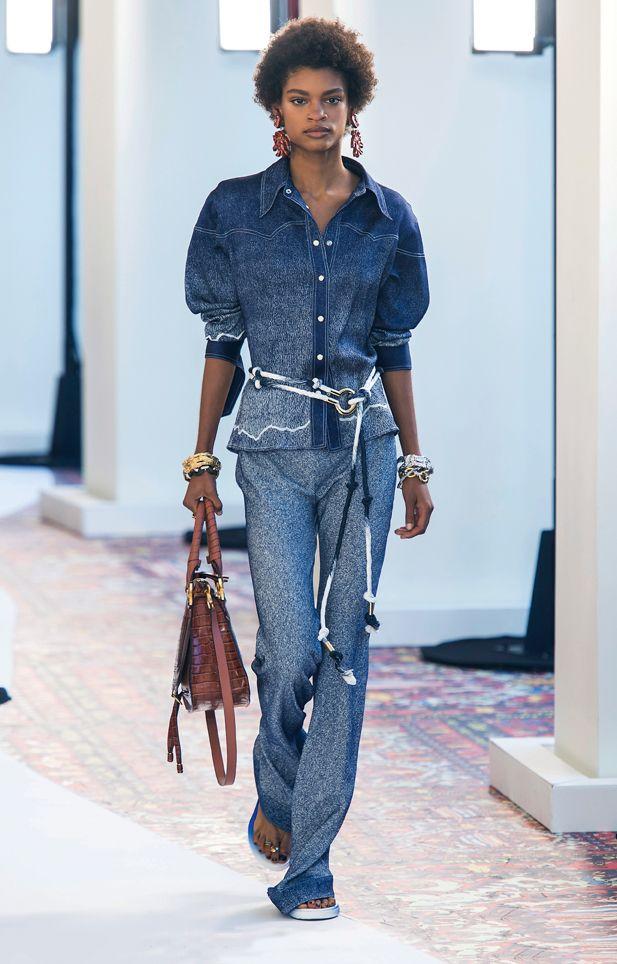 Jeans moda Primavera Estate 2019. vestiti,di,denim,primavera,estate,2019 ,chloe