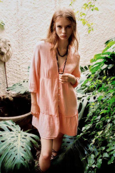 vestiti estate 2021 zara rosa