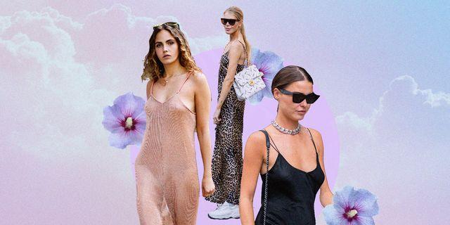 abito estivo 2021, con lo slip dress hai il vestito sottoveste più sexy della stagione da scegliere e indossare con outfit super cool tra le versioni corte e lunghe eleganti