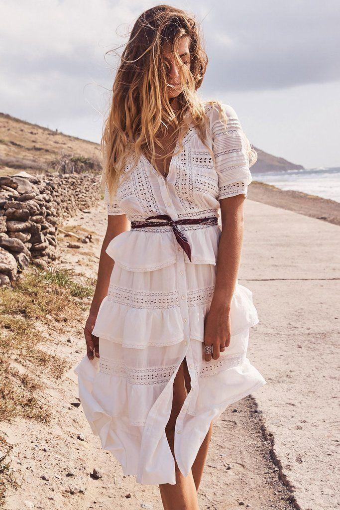 Vestiti bianchi lunghi estivi