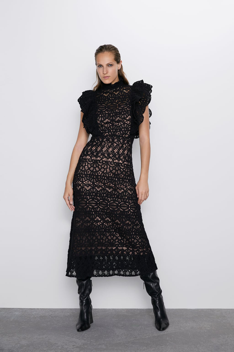 Fashion model, Clothing, Dress, Shoulder, Fashion, Neck, Joint, Footwear, Leg, Sleeve,