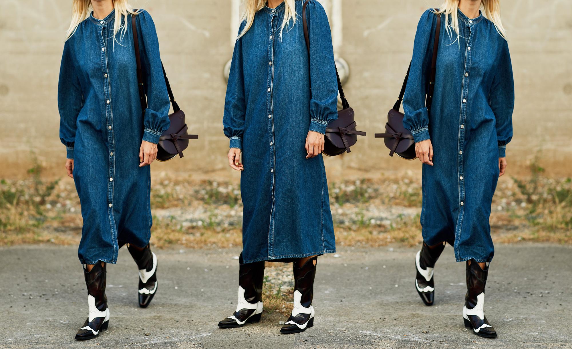 jeans moda inverno 2019 come indossare il vestito di jeans in autunno 2018