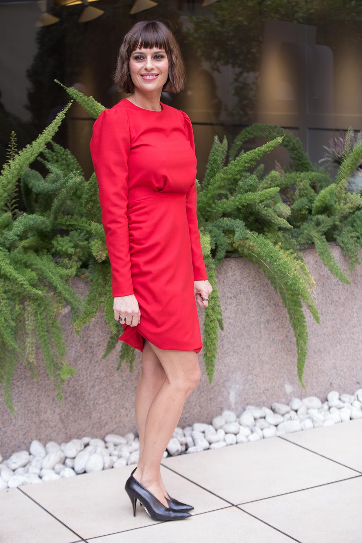 vestito rosso moda autunno inverno 2018 2019