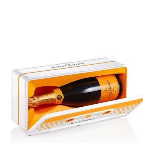 veuve clicquot champagne retro, chic brut in geschenkverpakking 750 ml