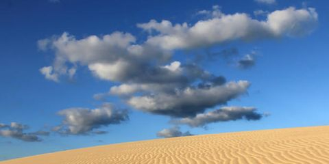 Nature, Sand, Blue, Daytime, Brown, Natural environment, Erg, Dune, Aeolian landform, Landscape,