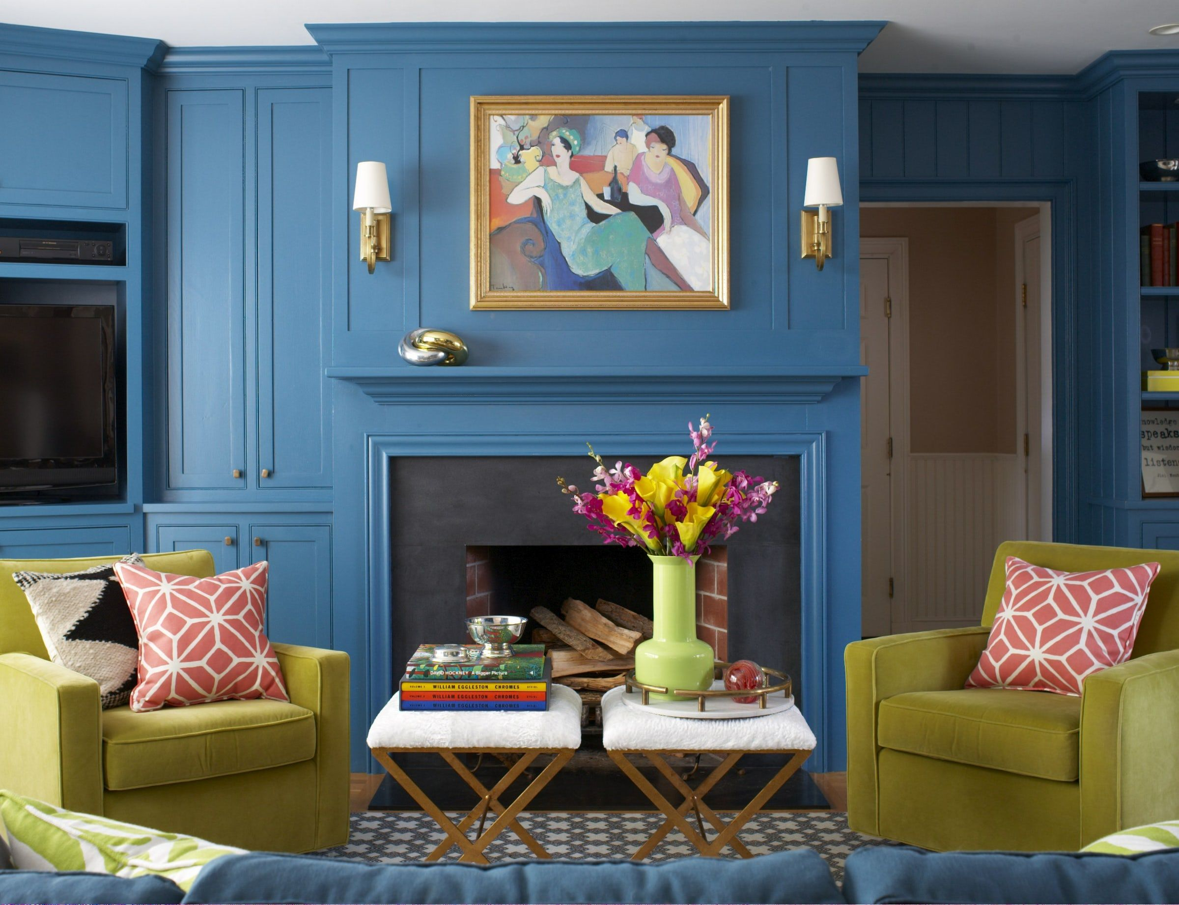 40 vibrant room color ideas how to decorate with bright colorsDrawing Room Colour Design #9