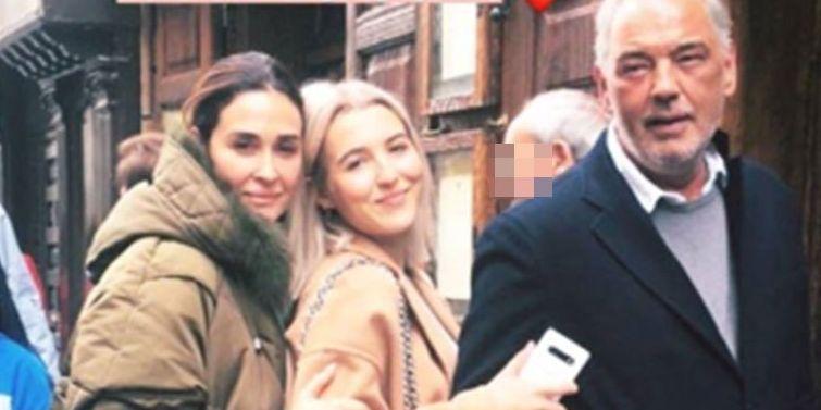 Vicky Martín Berrocal con su novio y su hija en Madrid