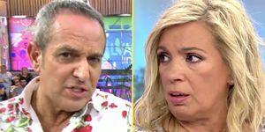 Victor Sandoval y Carmen Borrego enfrentamiento.