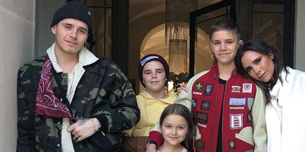Victoria Beckham, verjaardag, verjaardagspak, Beckham-kinderen, wit pak, 44