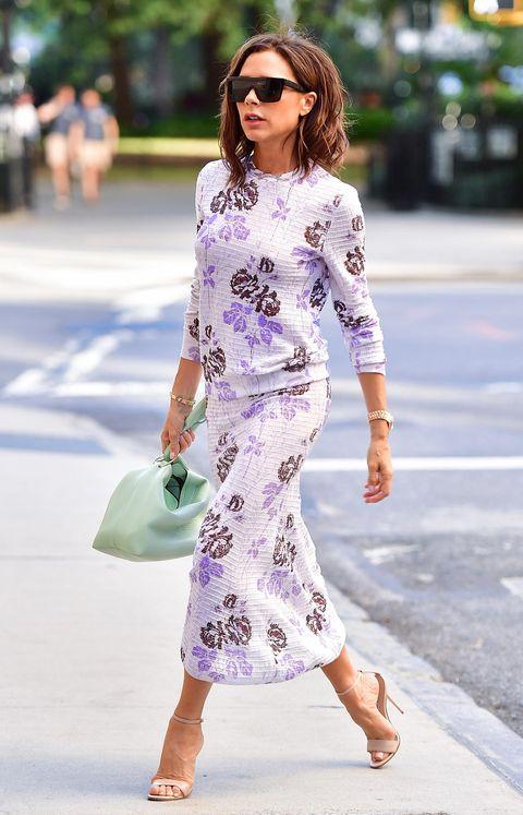 Clothing, White, Street fashion, Fashion model, Pink, Fashion, Shoulder, Lavender, Purple, Dress,