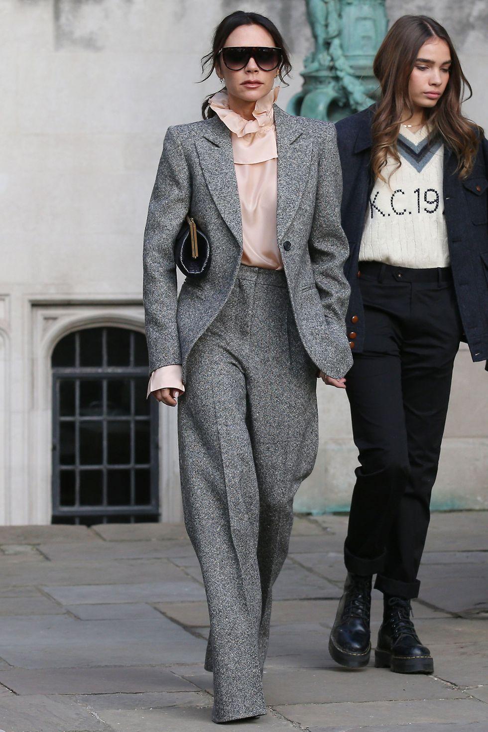 Victoria Beckham wearing a suit