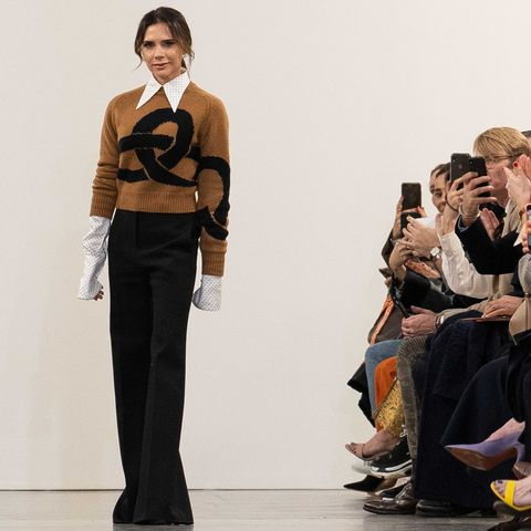 Victoria Beckham's Entire Family Sat Front Row at Her London Fashion Week Show