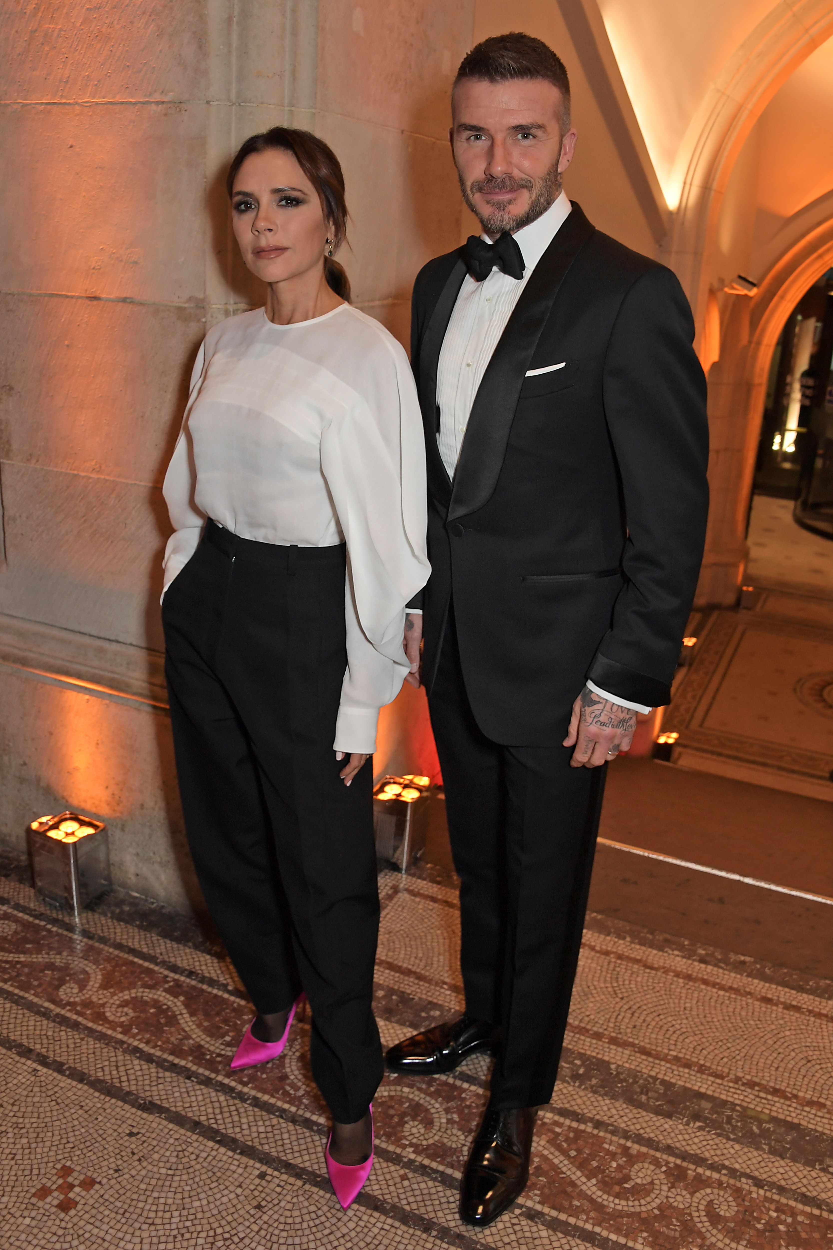 2a16f3769e08a Victoria and David Beckham Join Kate Middleton at the National Portrait  Gallery Gala