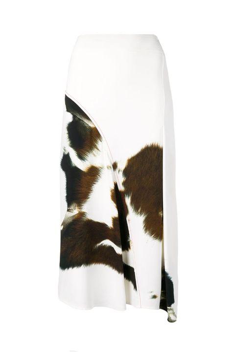Victoria Beckham cow print skirt