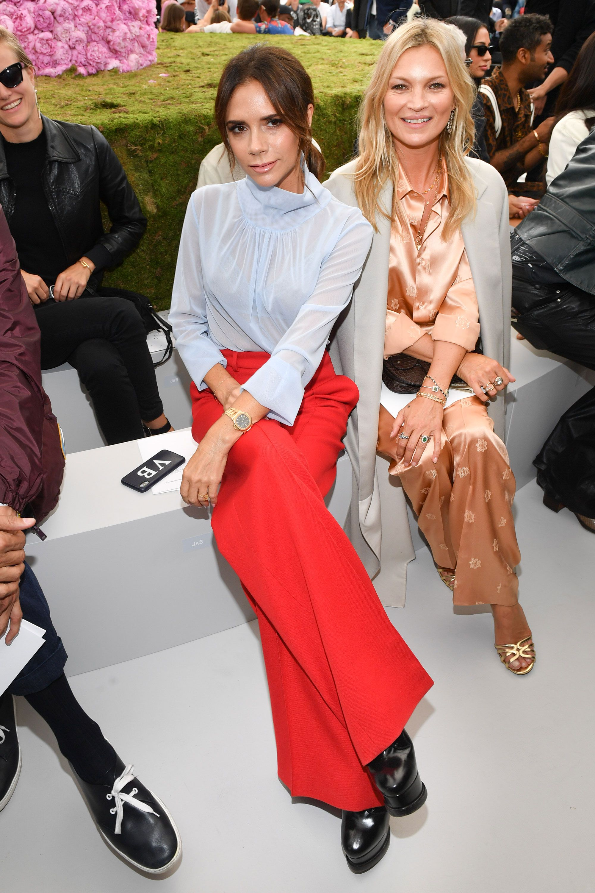 521c46df2560 Kate Moss, Victoria Beckham and more support Kim Jones at his first Dior  show – Dior menswear spring/summer 2019