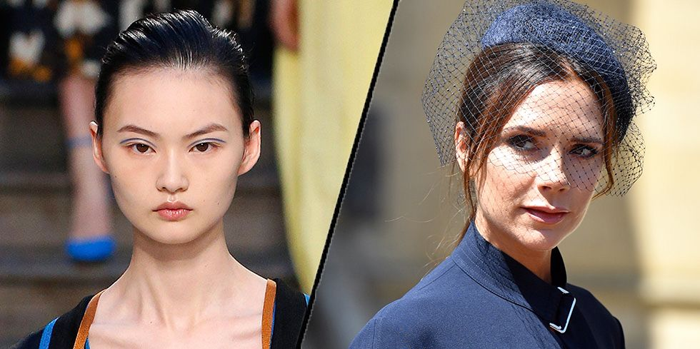 The make-up at the Victoria Beckham show was inspired by the Royal Wedding
