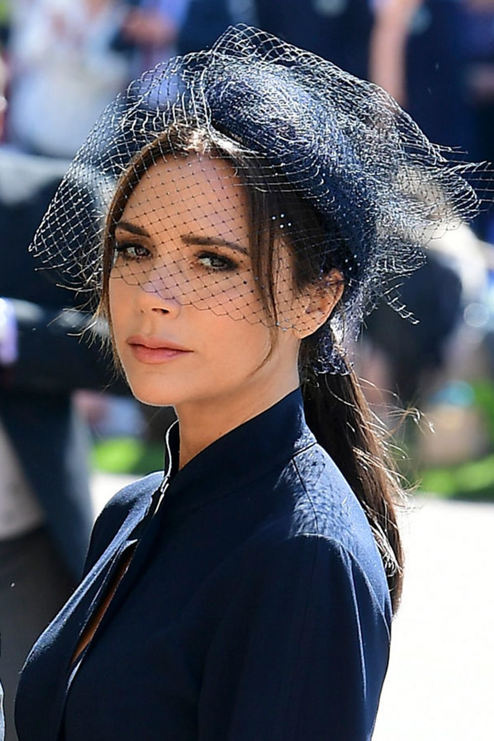 Victoria Beckham royal wedding beauty look