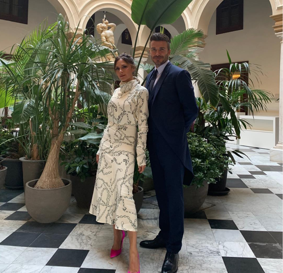 Victoria Beckham Channels The Duchess Of Sussex For Spanish Wedding