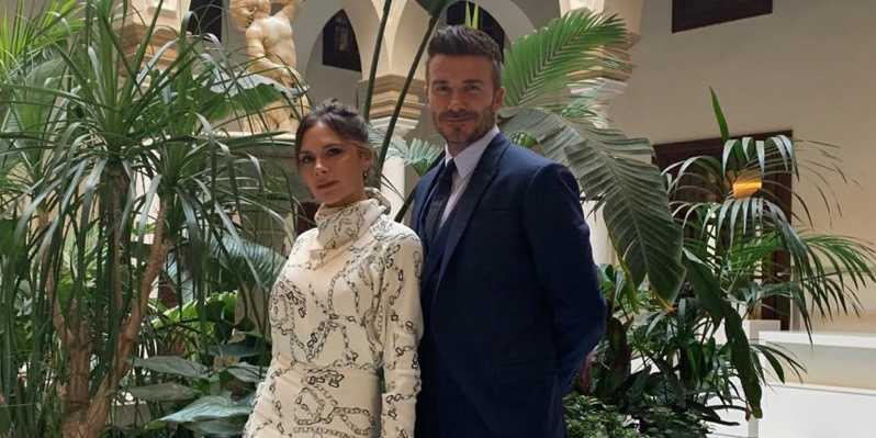 Victoria Beckham Channels Meghan Markle In Rope Dress At Spanish Wedding