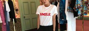 Victoria Beckham smile t shirt