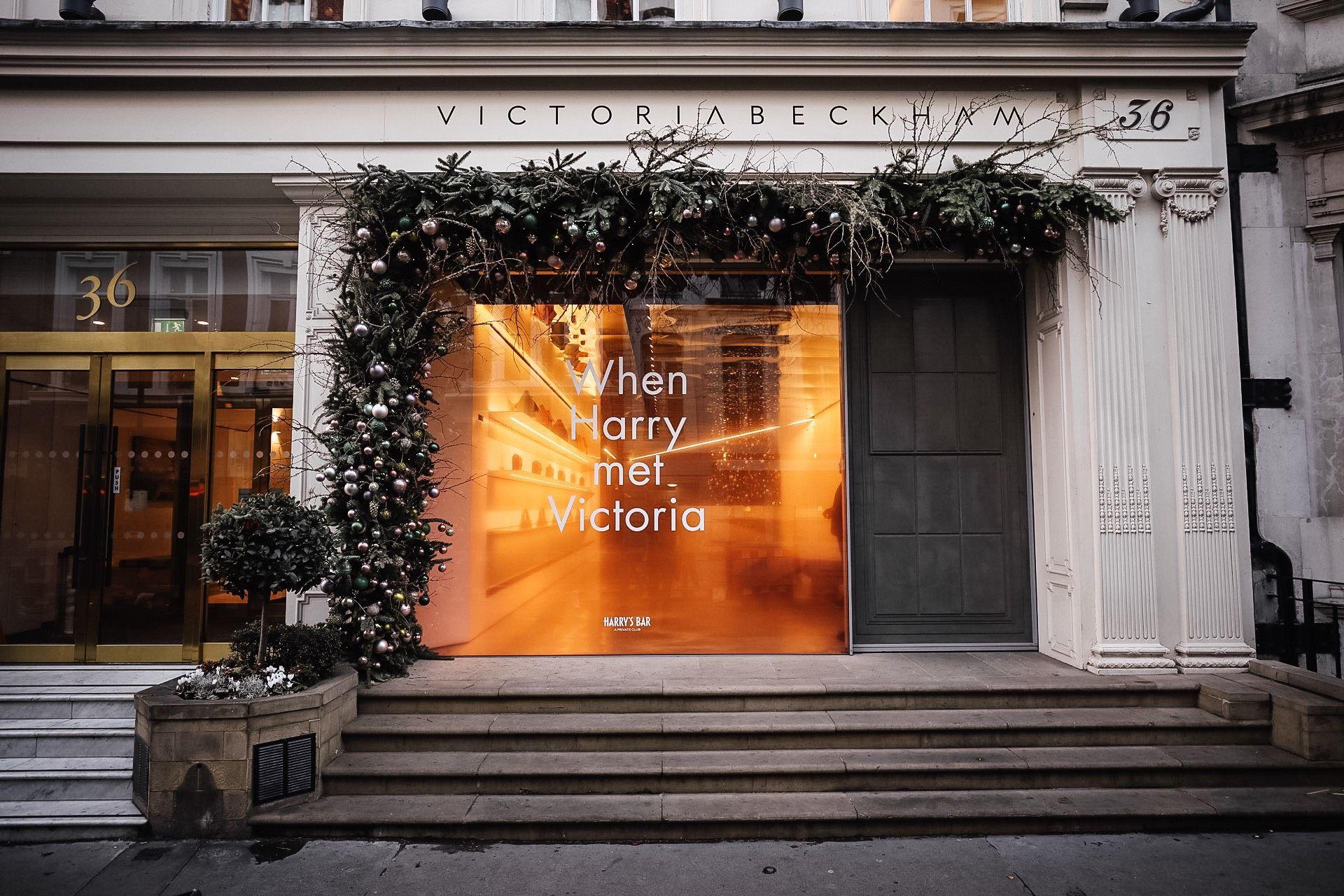 Victoria Beckham Christmas window display