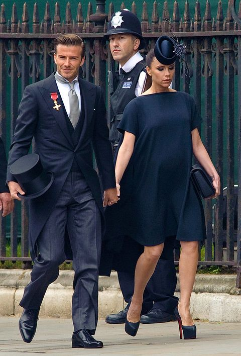 victoria beckham david beckham zwanger royal wedding