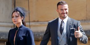 David Victoria Beckham royal wedding outfit auction manchester charity