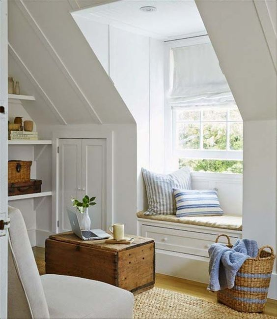 Finished Attic Reading Nook