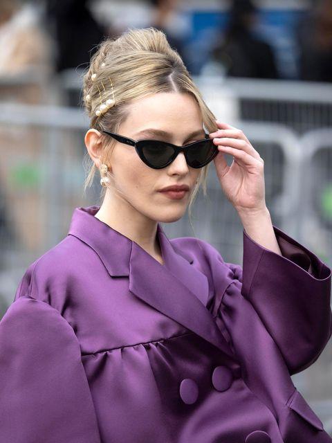 Victoria Pedretti, blonde hair, Paris Fashion Week