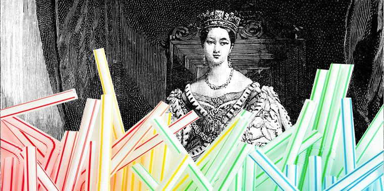 If Queen Victoria had used a plastic straw at her Coronation, it would still be perfectly intact today