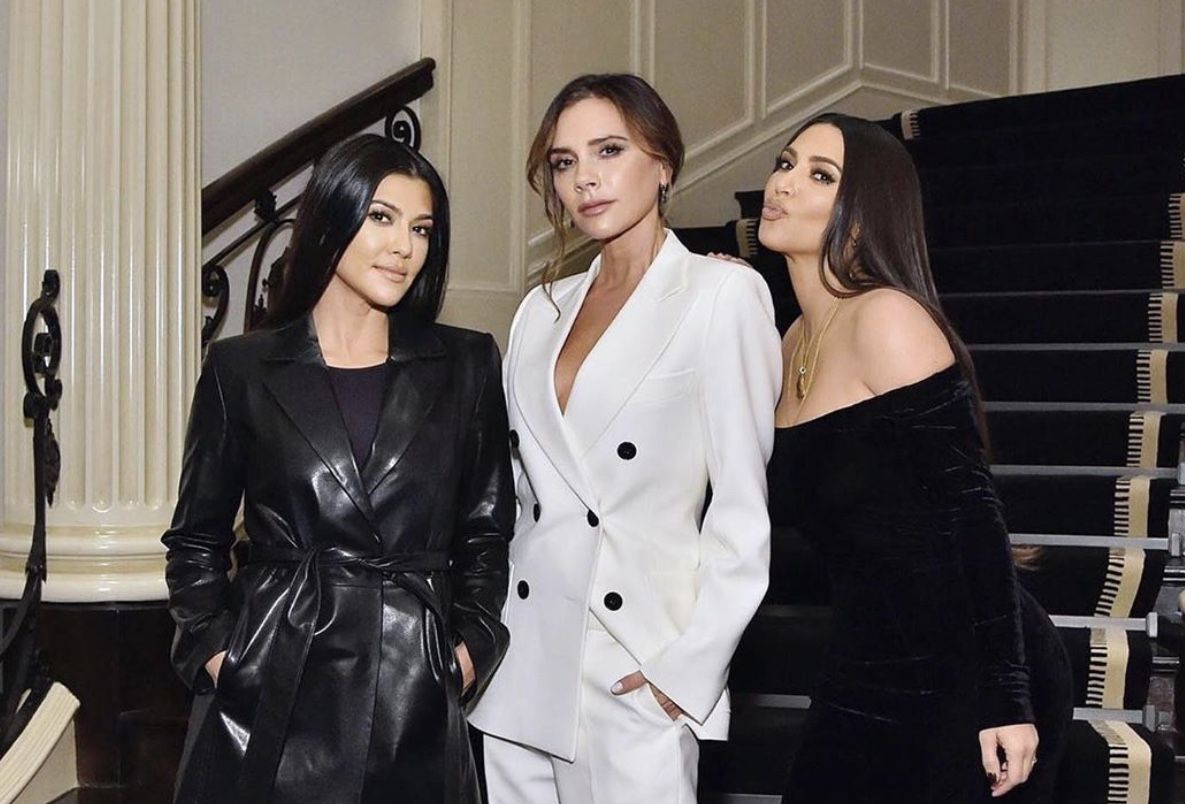 Victoria Beckham joined by Kim and Kourtney Kardashian at Hollywood beauty launch