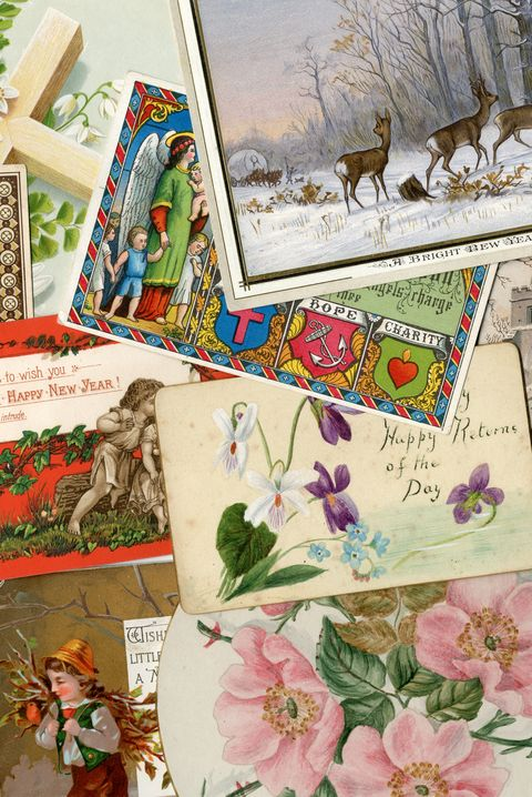 Victorian greetings cards background
