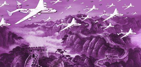 Violet, Purple, Graphic design, Illustration, Fictional character, World, Space,
