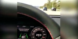 Conductor detenido 263 km/h