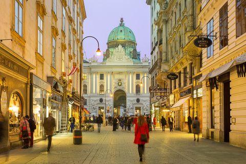 Una de las céntricas calles de Viena