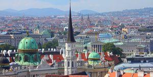 Vienna aerial view