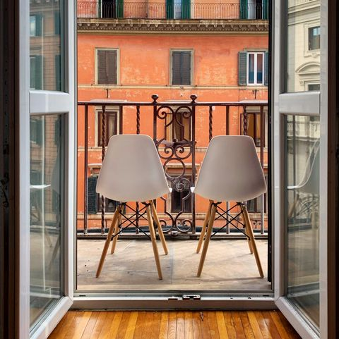 open balcony with chairs