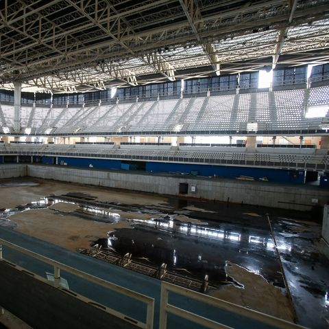 the olympic park 9 months after the rio 2016 olympics