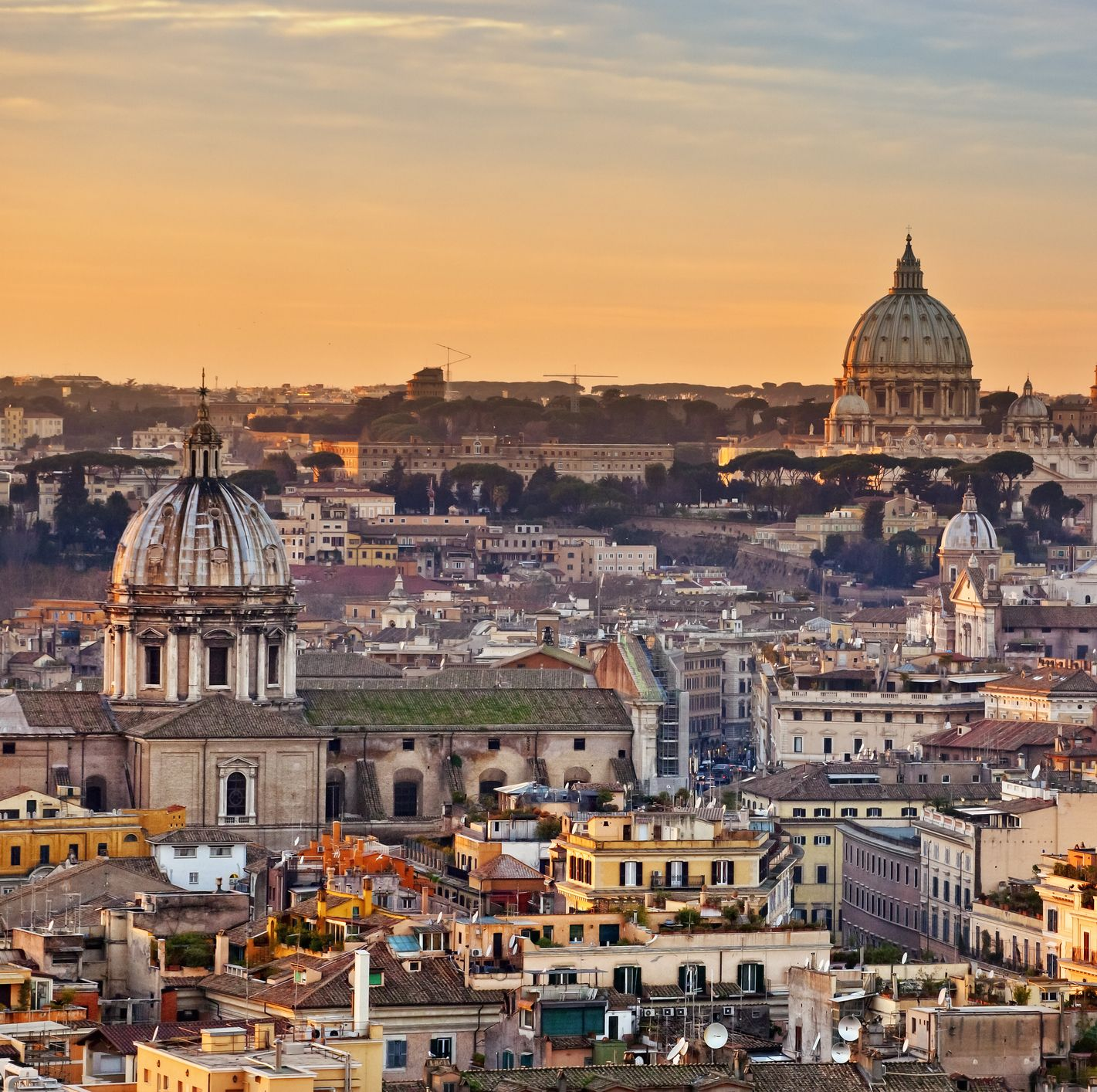 View from the top of Vittoriano, Rome, Lazio, Italy, Europe.