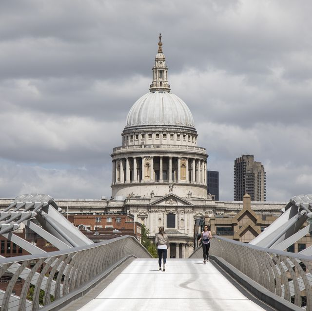 coronavirus atmosphere at st pauls cathedral in london